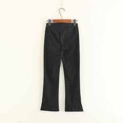 Mushi - Plain Boot Cut Pants