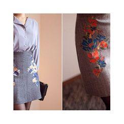 MASoeur - Floral Print Mini Skirt