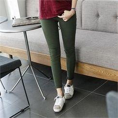 JOAMOM - Flat-Front Skinny Pants