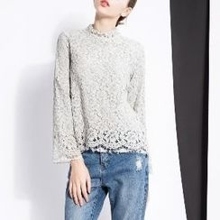 Halona - Long-Sleeve Lace Top