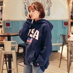 HOTPING - Hooded Printed Sweatshirt