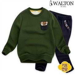 WALTON kids - Kids Set: Crew-Neck Sweatshirt + Pants