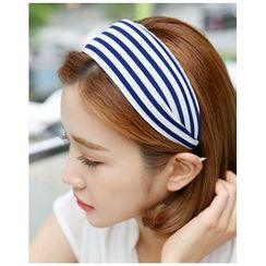 Miss21 Korea - Stripe Wide Hair Band