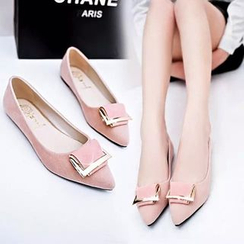 BAYO - Buckled Pointy Flats