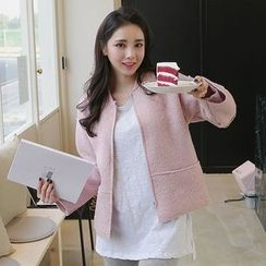 Seoul Fashion - Wool-Blend Zip-Up Jacket