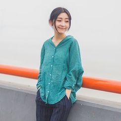 蘭芝 - 純色長袖襯衫