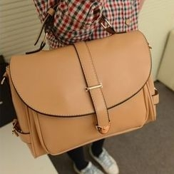 Auree - Faux-Leather Flap Satchel