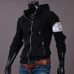 Seoul Homme - Printing-Sleeve Hoodie T-Shirt
