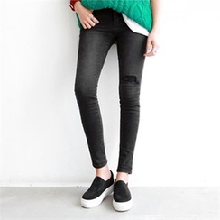PEPER - Distressed Skinny Jeans