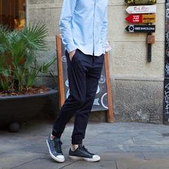WOOD SOON - Plain Straight-Leg Pants