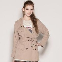 Life 8 - Double-Breasted Trench Coat with Sash