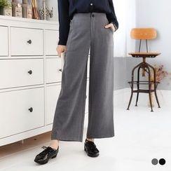 OrangeBear - Elastic-Waist Gaucho Trousers