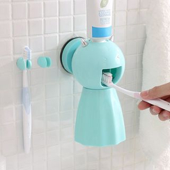 Lazy Corner - Set: Toothbrush Holder + Toothpaste Dispenser + Toothbrush Cup
