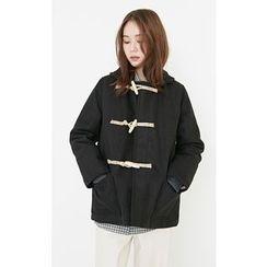 Someday, if - Hooded Wool Blend Half Duffle Coat