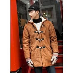 GERIO - Hooded Toggle-Button Coat