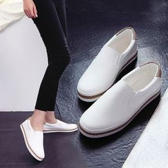 ZIMA - Faux Leather Slip-Ons