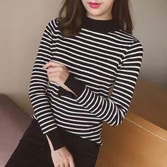 Cocofield - Striped Knit Pullover