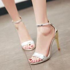 Tomma - Metallic Heel Sandals