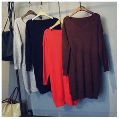 Glovon - Plain Knit Dress