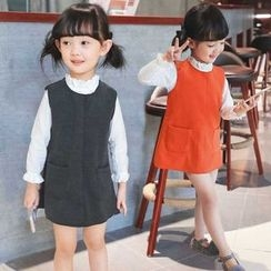 Merry Go Round - Kids Pinafore Dress