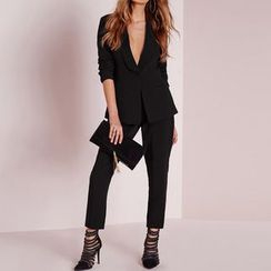Obel - Set: Plain Blazer + Dress Pants