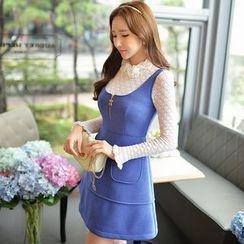 Dabuwawa - Sleeveless Zip A-Line Dress