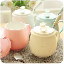 Momoi - Coffee Cup with Spoon & Lid