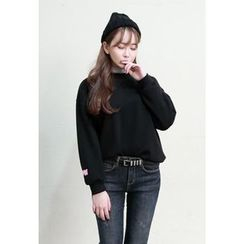 Dalkong - Round-Neck Brushed Fleece Top