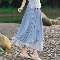 Diosa - Pleated Maxi Skirt