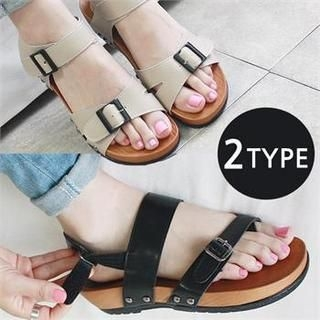 Reneve - Ankle-Strap Buckled Sandals