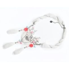 MIPENNA - White Snow Deer Necklace