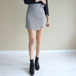 Envy Look - Buckled Houndstooth Mini Skirt