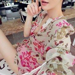 Queen Bee - 印花雪纺衬衫