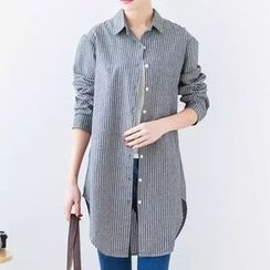 Nycto - Striped Long Shirt