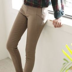 CLICK - Cotton Blend Skinny Pants