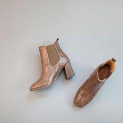 STYLEBYYAM - Chunky-Heel Ankle Boots