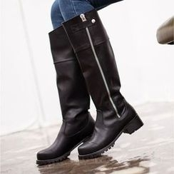 VIVIER - Faux-Leather Zip-Up Long Boots