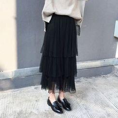Dute - Layered Maxi Tulle Skirt