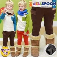 JELISPOON - Kids Fleece-Lined Cargo Pants