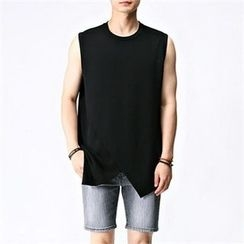 THE COVER - Round-Neck Sleeveless T-Shirt