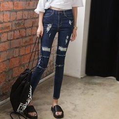 Athena - Distressed Skinny Jeans