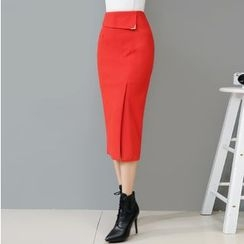 Hazie - Plain Knit Pencil Skirt
