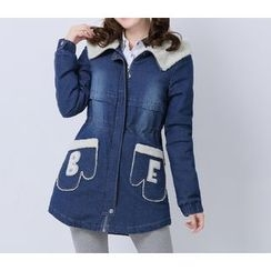 Dollisee - Hooded Denim Trench Jacket