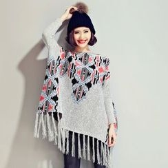 Sugar Town - Pattern Knit Poncho