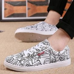 Preppy Boys - Printed Sneakers