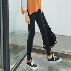 Ashlee - Slit Skinny Jeans