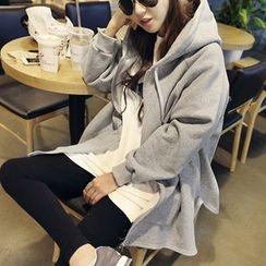 NANING9 - Cotton Hooded Zip Coat