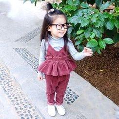 CUBS - 童裝套裝: 裙擺吊帶背心 + 褲子