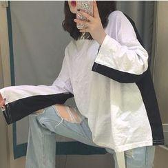 MATO - Two Tone Long Sleeve T-Shirt