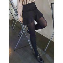 J-ANN - A-Line Zip-Back Miniskirt